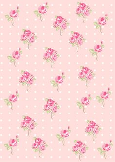 Floral  Shabby chic pattern paper pink ffdedb