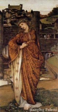 Our Lady of the Watergate, ca.1860, by John Roddam Spencer Stanhope (English, 1829–1908)