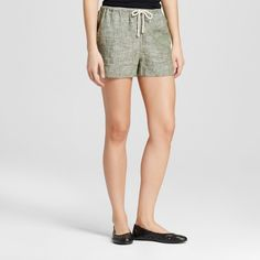 Women's Baja Linen Short - Mossimo Supply Co. Olive (Green) XS