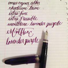 Omas Ogiva Alba EF Extra Flessible Montblanc Lavender Purple $495