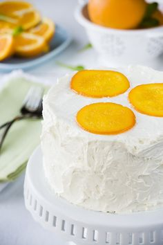 Orange Syrup Cake with White Chocolate Buttercream