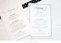 free wedding menu template    Karty menu na wesele do ściągnięcia za free