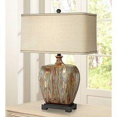 Julius Copper Drip Ceramic Table Lamp - #8J096 | Lamps Plus