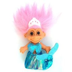 "Image detail for -Amazon.com: My Lucky Mermaid 6"" Troll Doll w/Pink Hair: Toys & Games"
