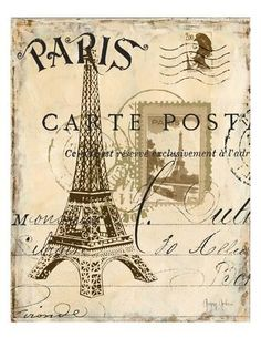 Premium Giclee Print: Paris Collage I - Eiffel Tower Art Print by Gregory Gorham by Gregory Gorham : 24x18in