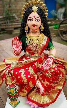 Lord Durga, Durga Ji, Saraswati Goddess, Goddess Art, Lord Krishna, Durga Images, Lakshmi Images, Krishna Images, Divine Mother