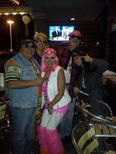 groovy friends on halloween at piranha killer sushi restaurant and happy hour north arlington texas