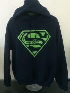 Seattle Seahawks Superman Superhawk Hoodie
