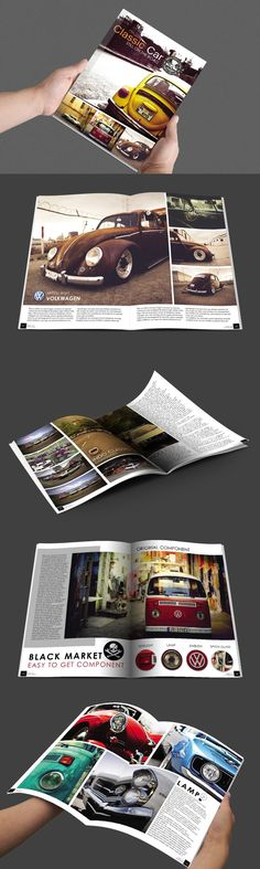 #magazine #design from BoriesBechker | DOWNLOAD: https://creativemarket.com/boriesbechker/289069-OldSchool-Car-Magazine?u=zsoltczigler