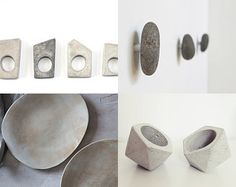 dare to love grey by Ingrid Gussen-Benthem on Etsy featuring concrete jewelry - geometric minimalist concrete ring by shooohsJewelry
