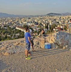 Athens viewed from the Areopagus hill the hour of sunset