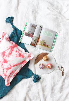 DIY Pink Shibori Pillow