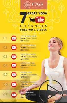 We selected the Top 7 Yoga YouTube channels dedicated to practicing yoga. | Yoga videos