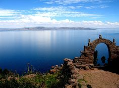 Lake Titicaca, Peru - Many volunteers choose to extend their stay to travel more. Plan your trip to Peru today with GCN! Places Around The World, Oh The Places You'll Go, Places To Travel, Places To Visit, Around The Worlds, Machu Picchu, Voyage Europe, Ushuaia, Lakes