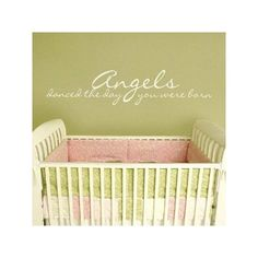Angels Danced the Day You Were Born 30x7 White All Appliqué Quote Wall Sayings Wheeler3Designs http://www.amazon.com/dp/B004UM9ZLY/ref=cm_sw_r_pi_dp_t0JPtb0CF14GEQSX