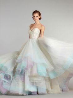 Mint Wedding-dress-by-Lazaro - zankyou.us