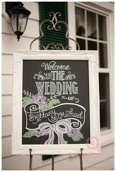 Brittany and Michael Cypress Grove Estate House » Chalk Shop Events   Winter Park, Florida Custom chalk art, chalkboards, celebration boards, wedding decor, wedding welcome sign