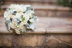 Loved my bouquet - white roses and dusty miller