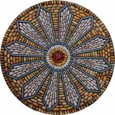 Maggy Howarth - Cobblestone Designs. Mosaic pebbles stones mandala