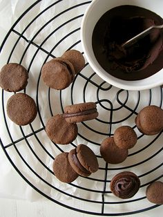 chocolate filled gluten free cookies
