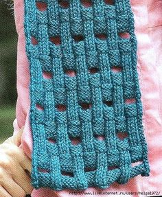 This is so beautiful.  10 stich repeat, l = knit on RS, purl on WS, - = purl on RS, knit on WS, sideways S = bind off, Box = cast on. On the Wrong side, knit all the stitches as they present (knit the knits and purl the purls) Cast on 49 sts, and follow chart, repeating rows 1-20 for desired length.