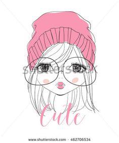 Portrait illustration girl