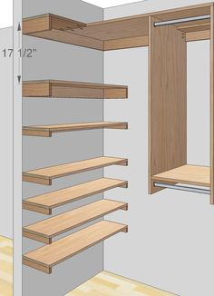 Free woodworking plans to build a custom closet organizer for wide reach-in closets. Description from tombuildsstuff.blogspot.com. I searched for this on bing.com/images