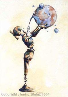 Neat robot art.