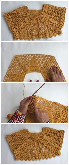 Today we have instructions and video tutorial how to crochet bolero jacket in 1 hour. Today we have instructions and video tutorial how to crochet bolero jacket in 1 hour. In this tutorial we will make a Crochet Bolero Jacket, using the wire Anne of the C Crochet Bolero Pattern, Crochet Jacket, Crochet Shawl, Crochet Stitches, Knit Crochet, Crochet Bikini, Crochet Sweaters, Crochet Baby Shrug, Crochet Beanie