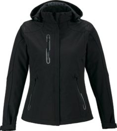 Promotional Products Ideas That Work: NEW AXIS LADIES' SOFT SHELL JACKET WITH PRINT GRAPHIC ACCENTS. Get yours at www.luscangroup.com