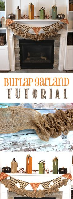 Burlap Garland Tutorial found on www.thekusilife.com