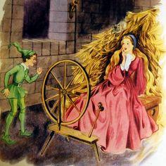 Tales from Grimm, Vintage Fairy Tale Book - Rumplestiltskin Rapunzel, Vintage Fairies, Vintage Art, Rumpelstiltskin, Grimm Fairy Tales, Fairytale Art, Illustrators, Textiles, Creations