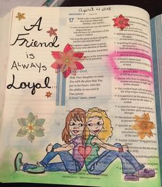 #biblejournaling #proverbs #afriendisalwaysloyal #getintheword My Bible, Bible Verses, Illustrated Faith, A 17, Trust Yourself, Proverbs, Journaling, Bible Journal, How To Plan