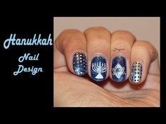 ▶ Hanukkah Nail Design - YouTube