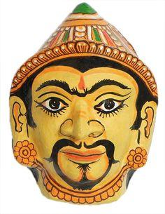 Parashuram Mask - Wall Hanging (Papier Mache)