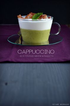 Cappuccino peas with mint I Foods, Panna Cotta, Side Dishes, Food Photography, Pudding, Cappuccinos, Health, Ethnic Recipes, Desserts