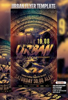 Urban Flyer Template — Photoshop PSD #music #black • Available here → https://graphicriver.net/item/urban-flyer-template/3070248?ref=pxcr