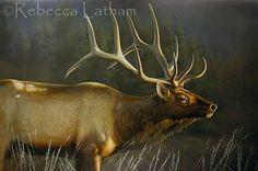 watercolor painting of elk | Large Bull Elk Watercolor Painting | Paintings of Wildlife & Nature by ...