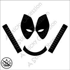Deadpool Inspired Minimalist  Custom Decal Sticker by AStickyObsession on Etsy
