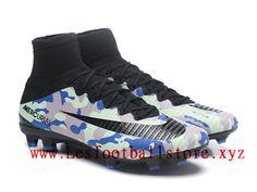 online retailer d76cf 67513 NIke Mercurial Superfly V FG Chaussure de football 2018 Pas Cher Pour Homme  Noir Bleu-