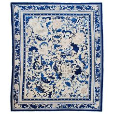 Antique Peking Chinese Oriental Rug | From a unique collection of antique and modern chinese and east asian rugs at https://www.1stdibs.com/furniture/rugs-carpets/chinese-rugs/