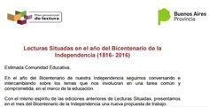 Bibliotecarios Escolares de la Región 6 CENDIE: Lecturas Situadas N° 3: Bicentenario de la Indepen...