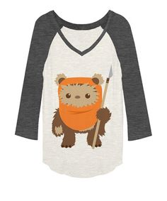 Look at this #zulilyfind! Off-White Heather & Charcoal Heather Ewok Raglan - Juniors #zulilyfinds