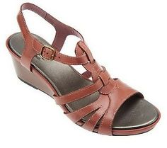 88053153b60c Clarks Bendables Lucia Wave Leather Wedge Sandals