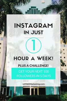 Instagram in an hour a week. I'm showing you how to create a system that'll have you feeling stress free. Instagram in just an hour a day Lindsay???? Yasssssss!  For all you biz owners and bloggers. Click here for the best instagram and social media tips to help grow your brand empire and gain new followers