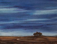 Nightfall - watercolor