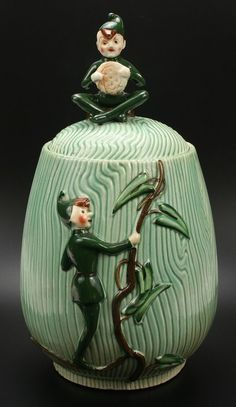 Jack & the Beanstalk Cookie Jar made in Japan by L. Batlin & Son
