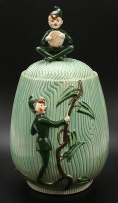 Jack & the Beanstalk Cookie Jar made in Japan by L. Batlin & Son