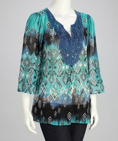 Take a look at this Aqua Talking To Angels Top by Sienna Rose on #zulily today!