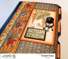 Do you have a plain journal or notebook sitting around? Spruce it up like Ginger with Artisan Style! Gorgeous #graphic45